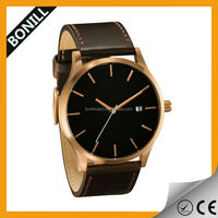 MVMT Classic Analog Watch Rose Gold Body Brown Leather Band/Straps ,date display