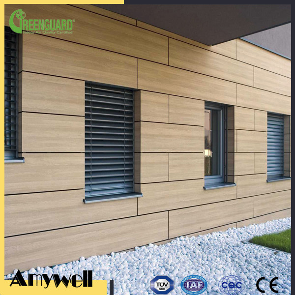 Amywell 8-12mm waterproof HPL laminate Cheapest Exterior Wall Cladding Material