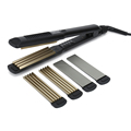 3 in 1 black titanium hair crimper EPS806 LED hair straightener for salon use