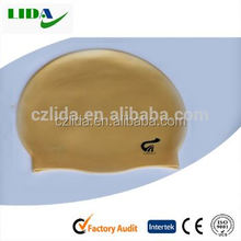Single colour swimming cap,Silicone extra size make your own swim cap