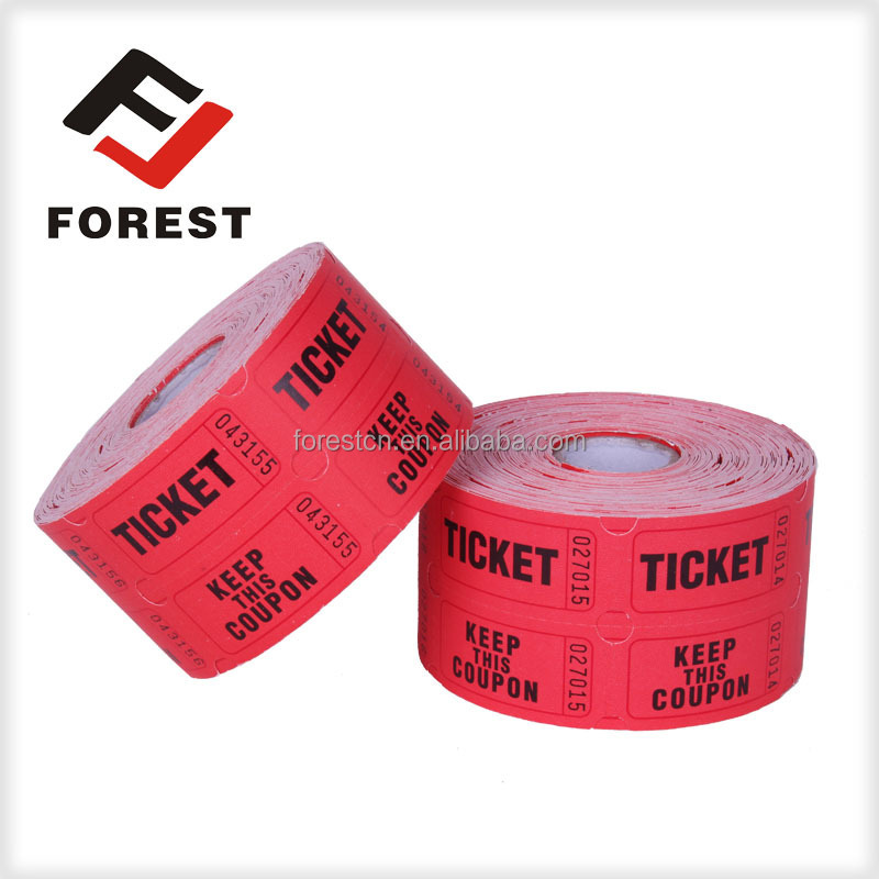 Supply raffle tickets, lottery ticket printing