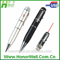 Good gift wholesale Laser Point Pen USB Flash Drive memory pen drives