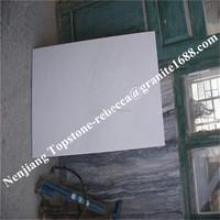 2014 Customized polishing white marble countertop bathroom design
