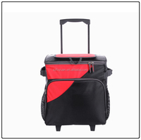 large volum trolley cooler bag, rolley cooler bag for food and wine
