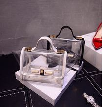 2015 High quality transparent clear pvc tote bag