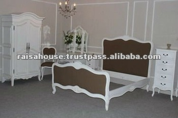 Indonesia Furniture - Franchoise Upholstered Bed French Furniture