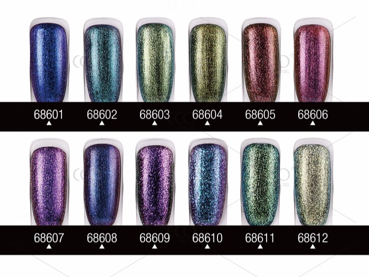 CCO Longwear Soak Off Chameleon Color Changing Gel Nail Polish Temperature Change Nail Gel Polish