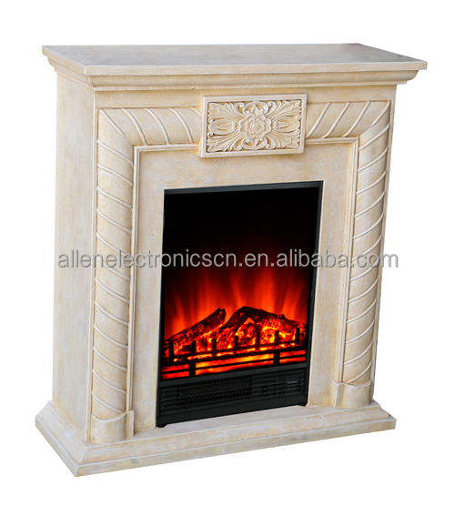 charmglow artifical white faux electric fireplace