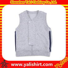 Fashion 100% cotton custom kintted zip up kids waistcoats for boys