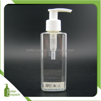 180ml plastic square bottle after shave lotion bottle