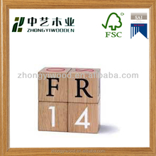 2014 Hot sale custom design unique decorative wooden wall calendar