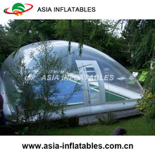 Commercial Grade Pvc Inflatable Transparent Pool Dome / Swimming Pools Clear Cover Tent / Outdoor Blow Up Pool Tent
