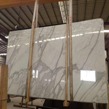 Hot Sale Natural Statuario Venato Calacatta White Marble Slab