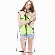 Manufacture fashion classic transparent eva raincoats for women wholesale