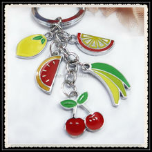2014 Promotional item fruit shape keychains,fruit shape keychains,enamel fruit keychain