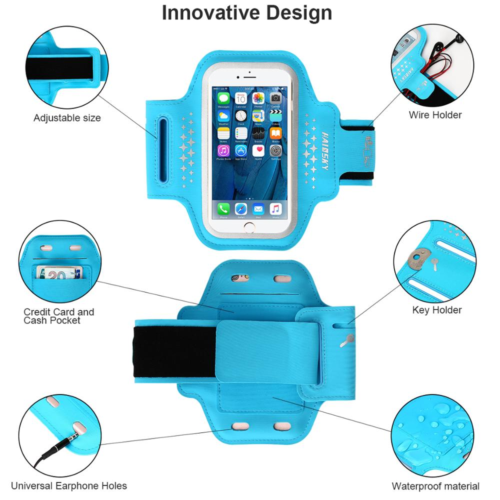 HAISSKY New pattern fashion sports armband for 5.5inch smartphone waterproof case,for phone7