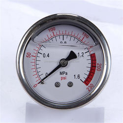 Durable Light Weight High Quality Clear Industrial Bourdon Tube With Front Flange Manometer