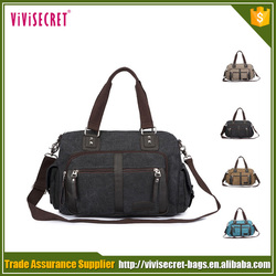 OEM durable tote bag canvas cotton duffle bag black from China factory