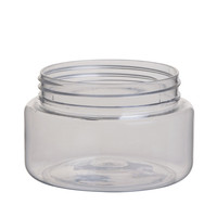 Factory price transparent plastic empty cosmetic jar 150ml