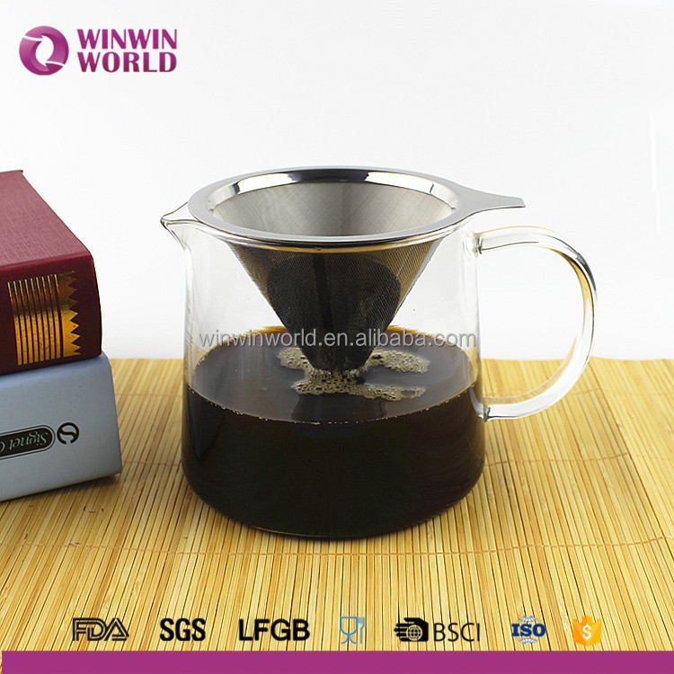 Clever Innovative Reusable Paperless Stainless Steel Pour Over Coffee Server