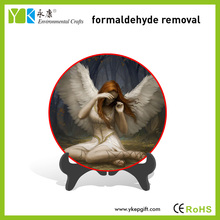 Wholesale innovative eco friendly hand painted plate carving Christmas crafts angel decorations