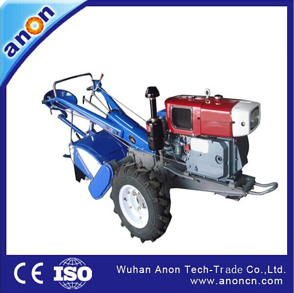 ANON 7hp-20hp diesel engine walk behind type mini garden tractors manufacturers
