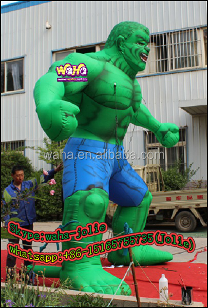 Giant inflatable cartoon Halloween decorations green color man