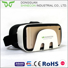 2017 shinecon cooling design high quality game perfect assembling 3d vr glasses virtual reality for smartphone