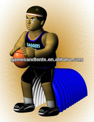 PVC basketball team mascot inflatable tunnel F9006