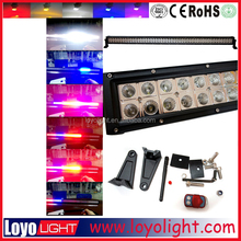 RGB color changing light bar 288W 12v 24v heavy duty off road tow truck,indoor,outdoor,factory,SUV,ATV,Trailer,agriculture