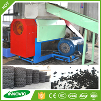 Automatic used tyre recycling machine to produce rubber chips