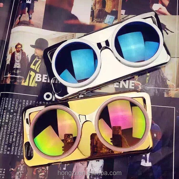 3D sun glasses mobile phone case for iPhone 6 6Plus 5 5s Mirror Case