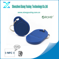 plastic/leather Smart RFID Key Fobs with em4200/hitag/f08/desfaire/ultralight