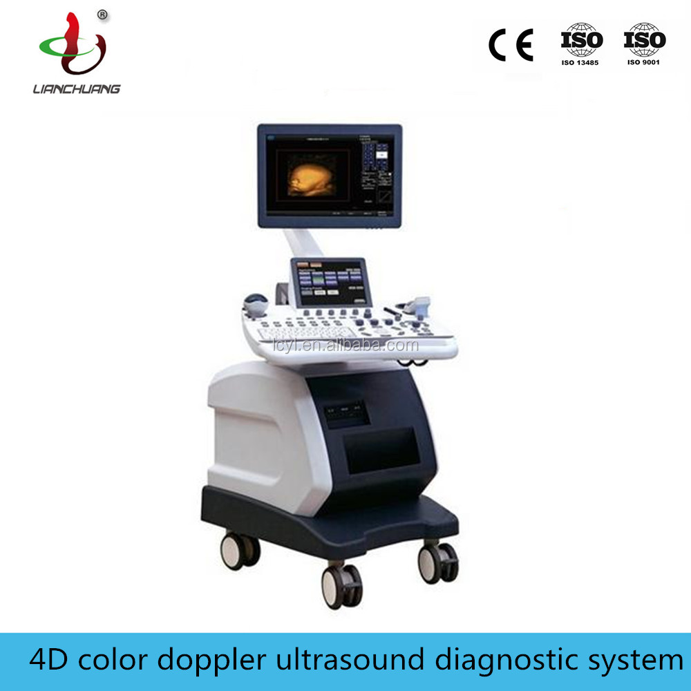 Newest mobile type 4d ultrasound machine with medical 2MHz-14MHz probes