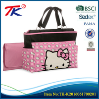 New design baby mommy travel tote handbag plus changing pad diaper bag