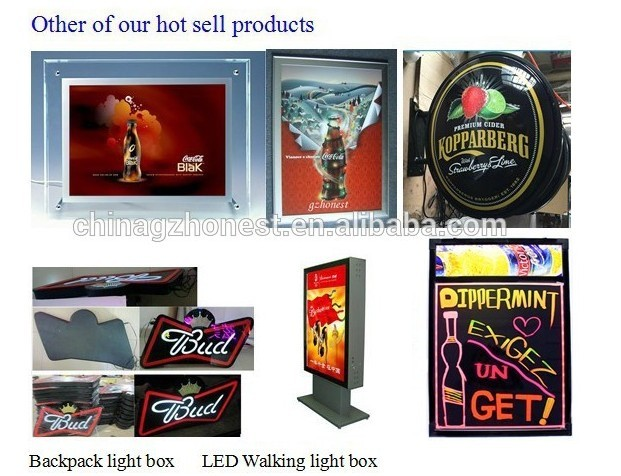 led crystal slim display light box,crystal signage