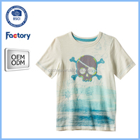 2016 wholesale high quality cotton kid printing t shirt