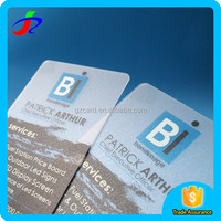 Custom high quality hot sale frosted clear plastic business card / Transparent plastic business card