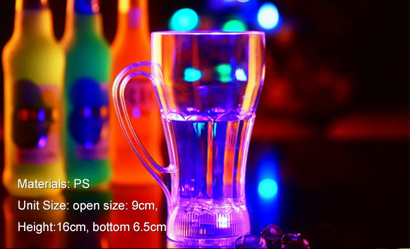 LED color change glow acrylic cup novelty flashing light cup