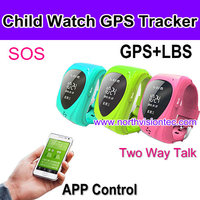 child gps tracker bracelet with SOS, GPS+LBS, ISO/Android APP tracking, talking to each other for child/kids/baby