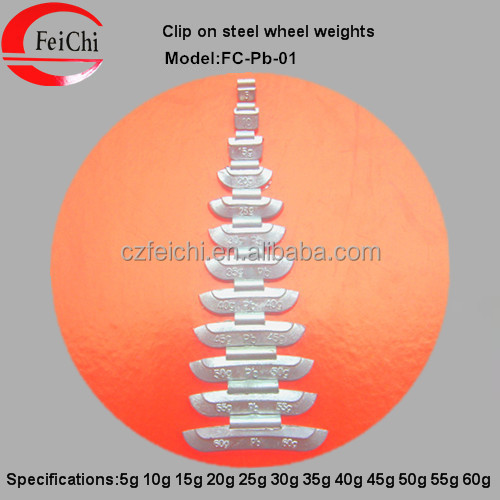 Metals and lead of steel wheel balance weight