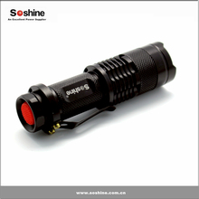 Soshine 300lm Mini Led Flashlight Torch Adjustable Focus Zoom Light Lamp