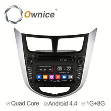 Wholesale price Android 4.4 touch screen automotive dvd player for Verna Accent Solaris with wifi bluetooth