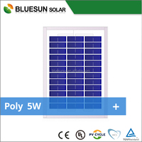 Bluesun low price but high quality Poly 5w home solar panel for home use