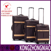 soft nylon luggage suitcase customized christmas gift travel trolley luggage bag