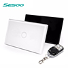 SESOO US standard 1 Gang 1 Way RF Wireless Remote Control Led Touch sensitive Screen Wall Light WiFi Switch