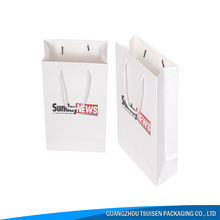China Suppliers wholesale White fashion wholesale cheap fancy paper gift bag