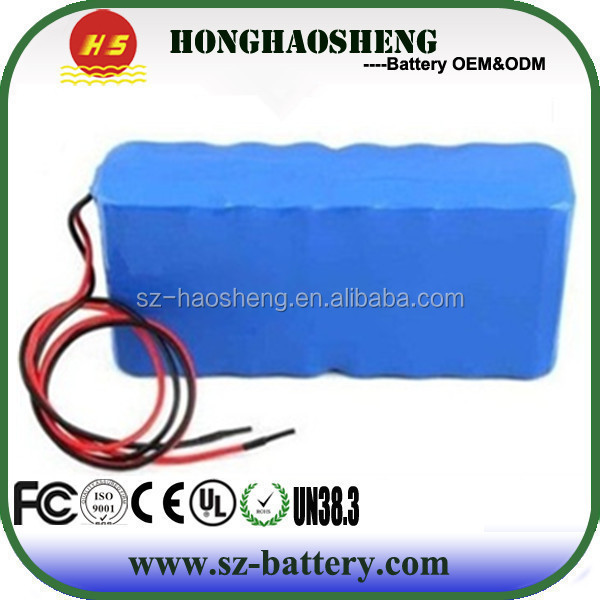 ISO9001 factory 3S10P li-ion battery pack 12v 30ah