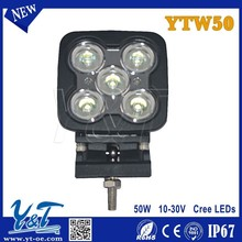 50W LED Work Light for Wholesale Water Boat, 48 Watt Square Miner Lamp, LED Work Lamp for Mining, Marine Ships, Automotive