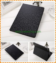 New arrival diamond stone pu leather case flip stand case for ipad 2 3 4